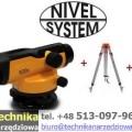Niwelator optyczny Nivel System N30x + statyw + łata