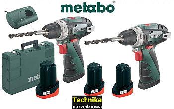 wiertarko_wkretarka_METABO 2x PowerMaxx BS Basic  10.8V 3xAKU