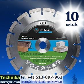 tarcza_diamentowa_do_betonu_NOZAR LASER UNIWERSAL fi230_promocja 10szt